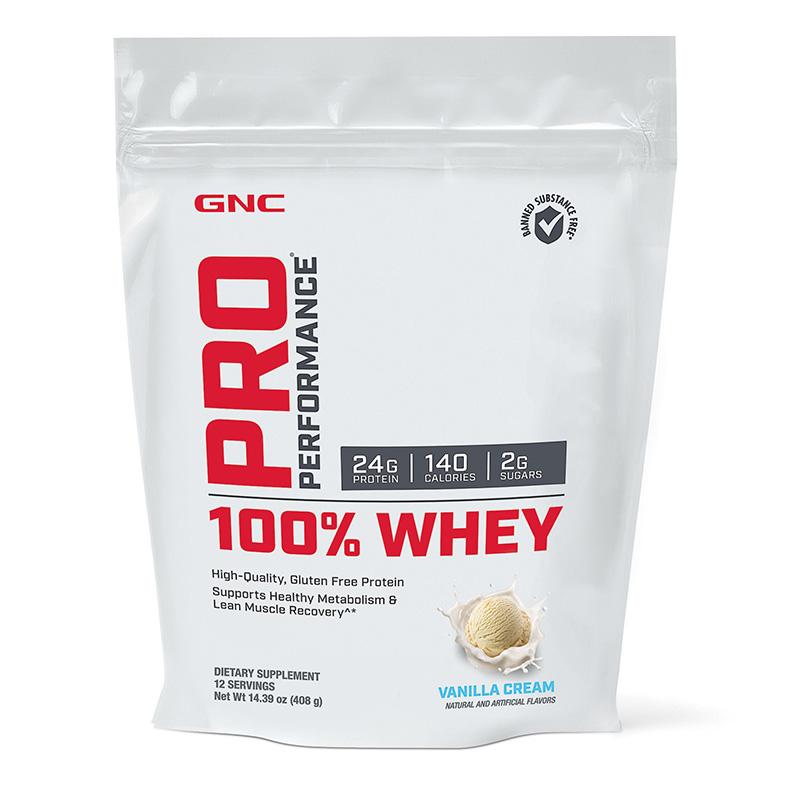 100% Whey Proteina din zer cu aroma de vanilie (408 grame), GNC Pro Performance