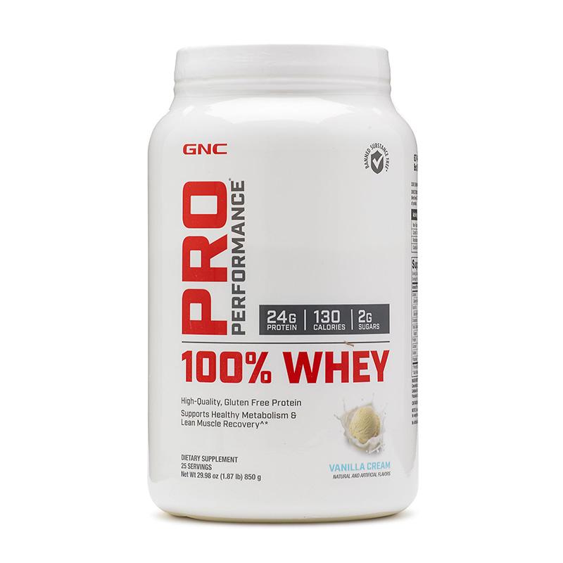100% Whey Proteina din zer cu aroma de vanilie (850 grame), GNC Pro Performance