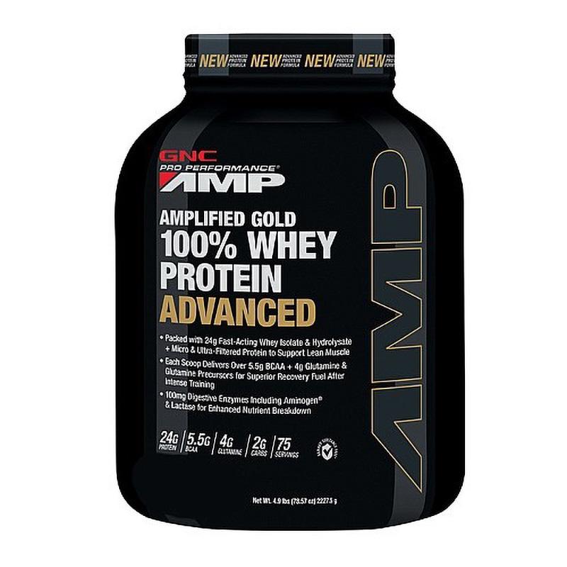 AMP Gold Advanced 100% Proteina din zer cu aroma de ciocolata (2325 grame), GNC