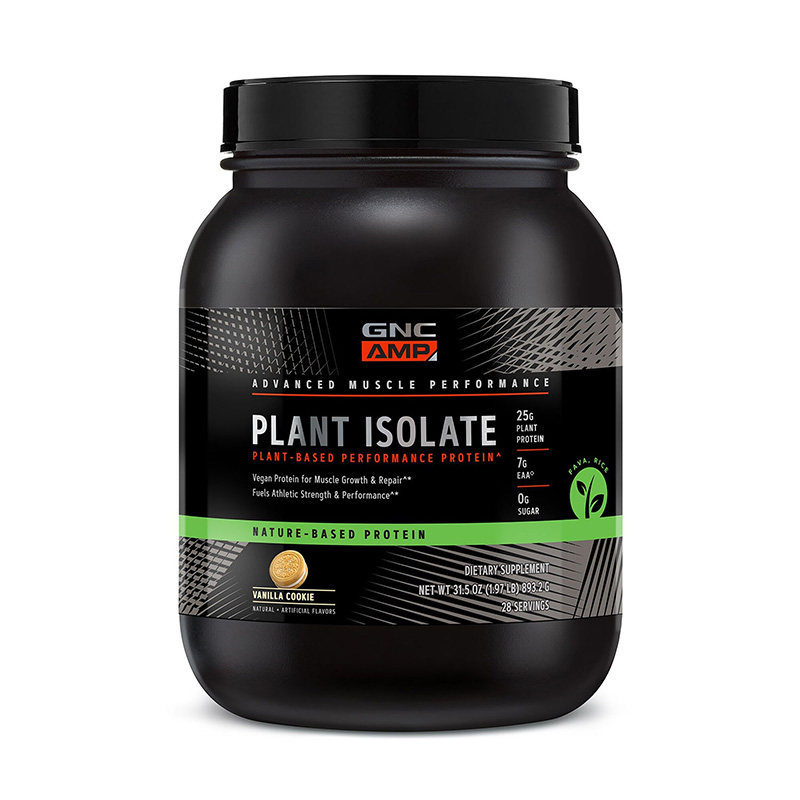 AMP Plant Isolate Proteina vegetala cu aroma de biscuiti cu vanilie (893,2 grame), GNC