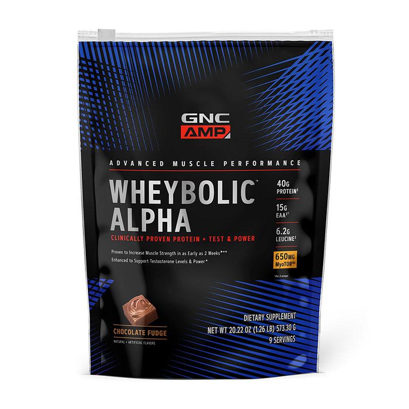 AMP Wheybolic Alpha Proteina cu aroma de ciocolata (573.3 grame), GNC