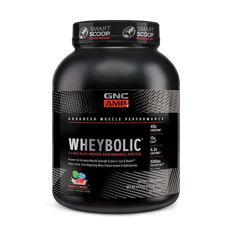 AMP Wheybolic Proteina cu aroma de cereale cu fructe (1300 grame), GNC