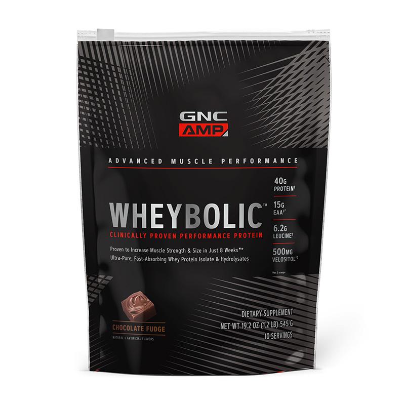AMP Wheybolic Proteina din zer cu aroma de ciocolata (545 grame), GNC