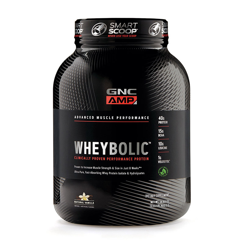 AMP Wheybolic Proteina cu aroma naturala de vanilie (1615.5 grame), GNC