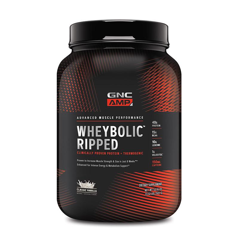 AMP Wheybolic Ripped Proteina cu aroma de vanilie (1148.4 grame), GNC