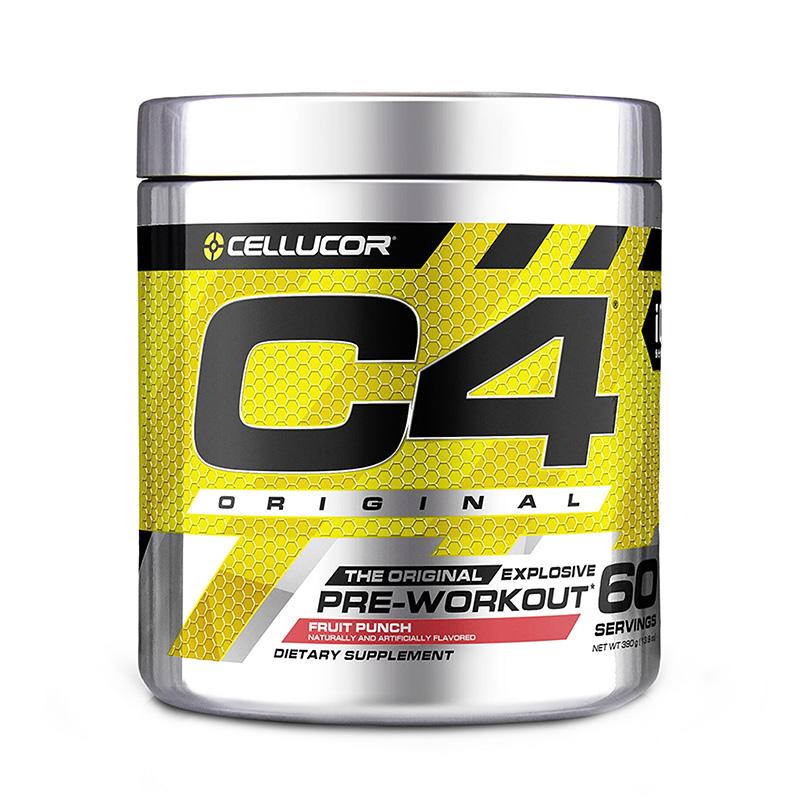 Cellucor C4 Original Formula pre-workout cu aroma de punch de fructe (360 grame), GNC