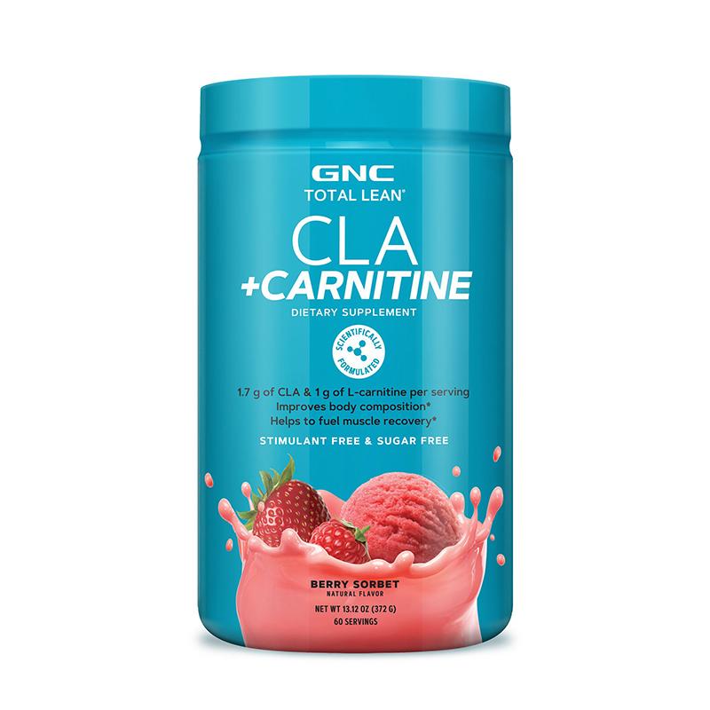 CLA si Carnitina cu aroma de serbet de fructe de padure (372 grame), GNC Total Lean