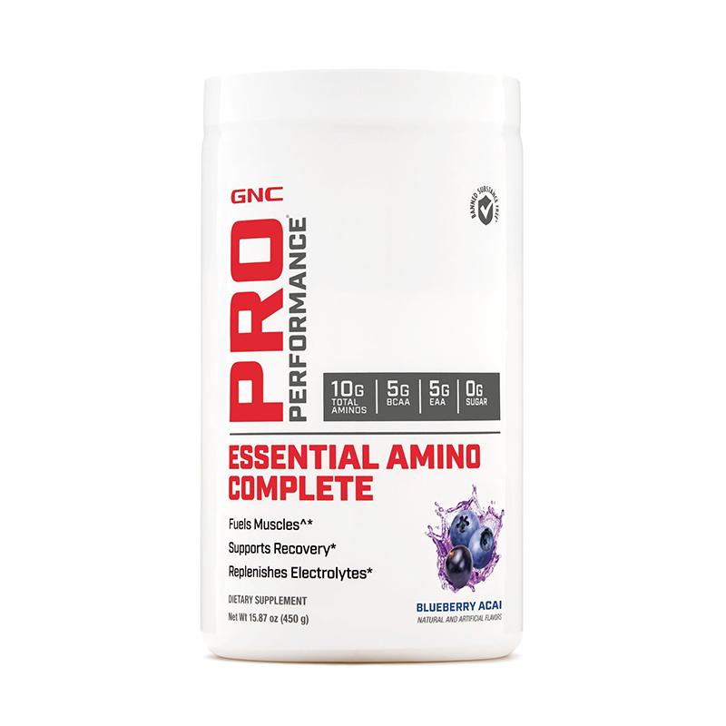 Essential Amino Complete Aminoacizi cu aroma de afine (450 grame), GNC Pro Performance