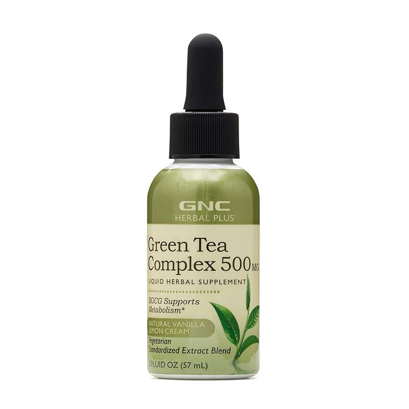Complex de ceai verde lichid 500 mg (57 ml), GNC Herbal Plus