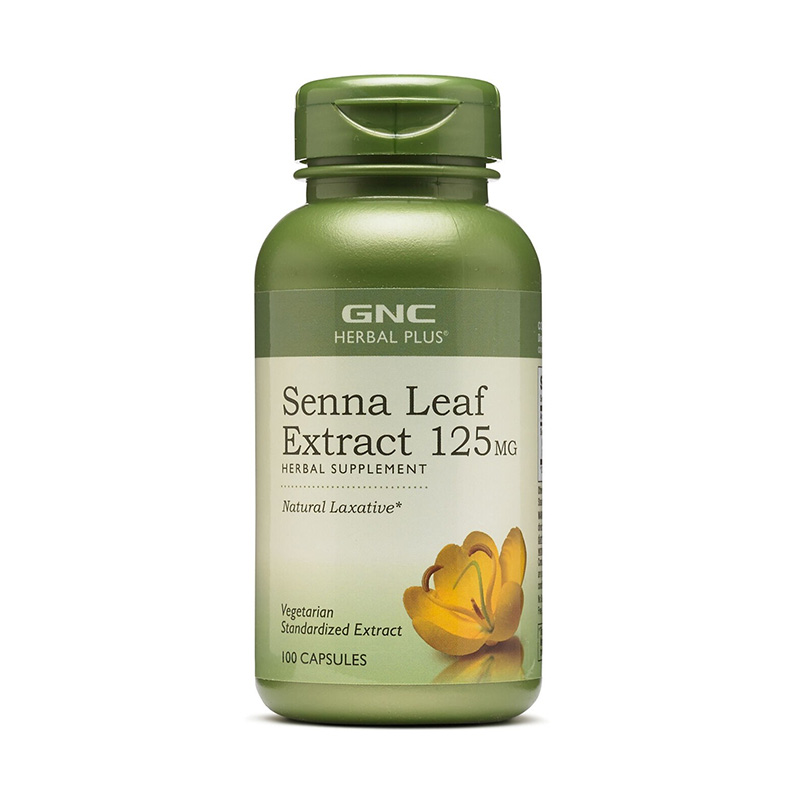 Extract standardizat din frunze de senna (100 capsule), GNC Herbal Plus