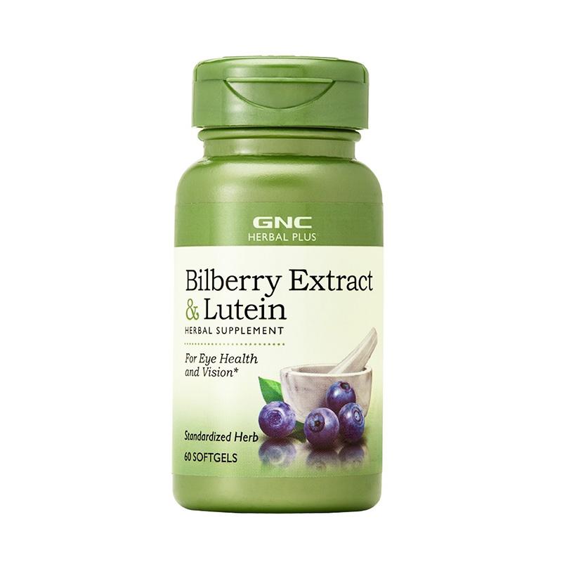 Extract standardizat de afine si luteina (60 capsule), GNC Herbal Plus