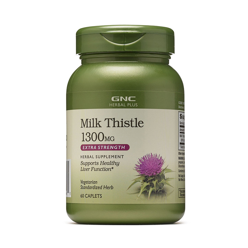 Extract standardizat de silimarina 1300 mg (60 capsule), GNC Herbal Plus
