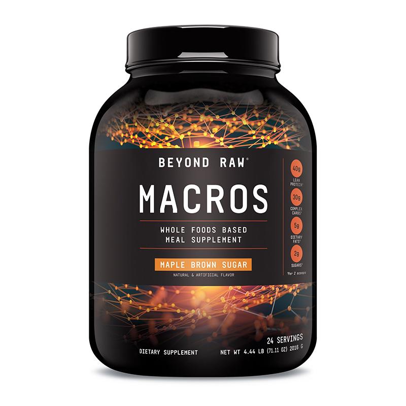 Macros Proteina cu aroma de sirop de artar (2016 grame), GNC Beyond Raw