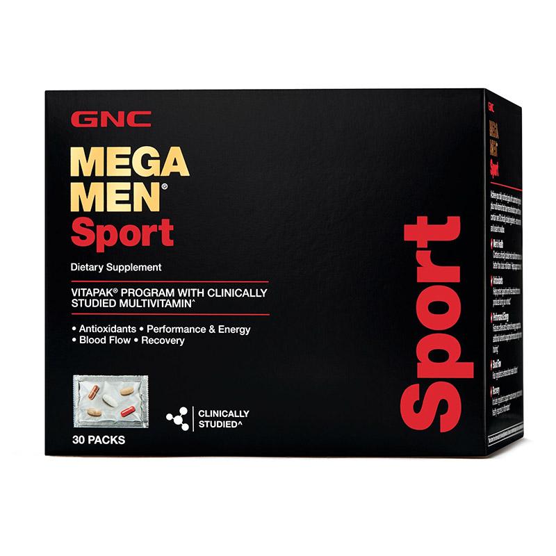 Mega Men Sport Vitapak - Program multivitamine (30 pachetele), GNC