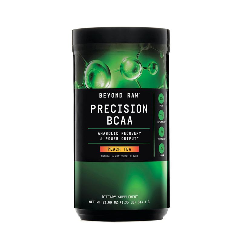 Precision BCAA Aminoacizi cu aroma de ceai de piersici (614.1 grame), GNC Beyond Raw