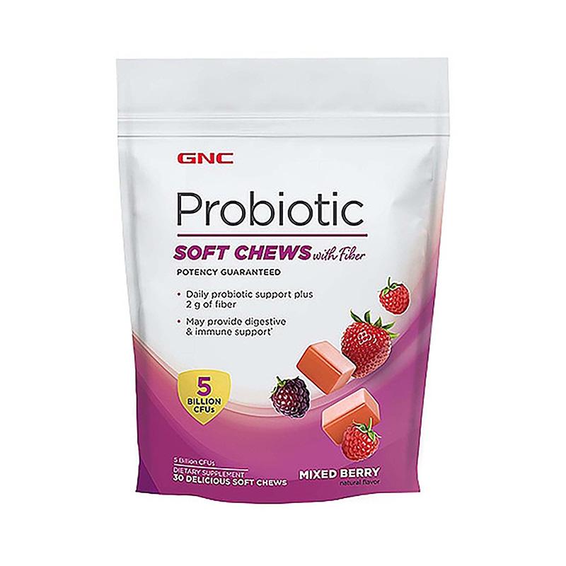 Probiotic Caramele cu fibre cu aroma de fructe (30 caramele), GNC