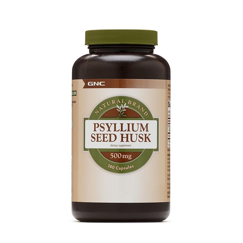 Seminte de psyllium decordicate 500 mg (180 capsule), GNC Natural Brand