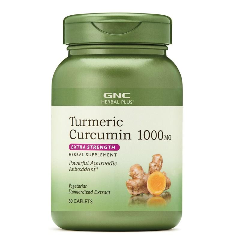 Extract standardizat de turmeric curcumin 1000 mg (60 capsule), GNC Herbal Plus