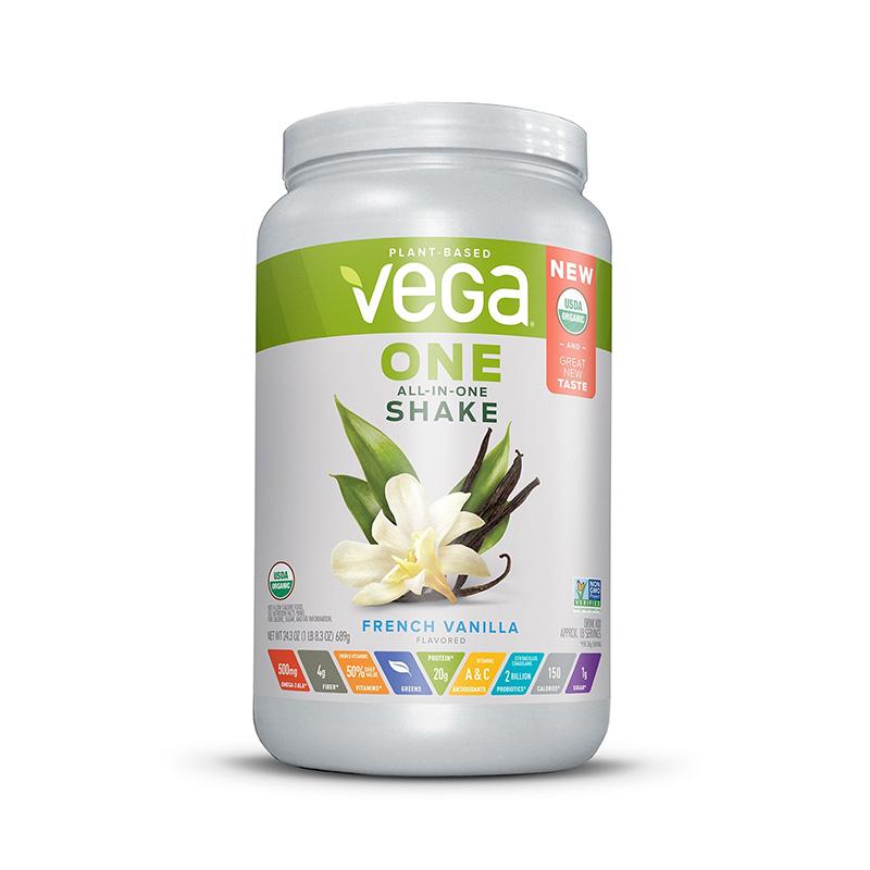 Vega One Proteina vegetala cu aroma de vanilie (689 grame), GNC