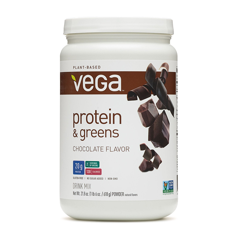 Vega Proteina si verdeturi cu aroma de ciocolata (618 grame), GNC