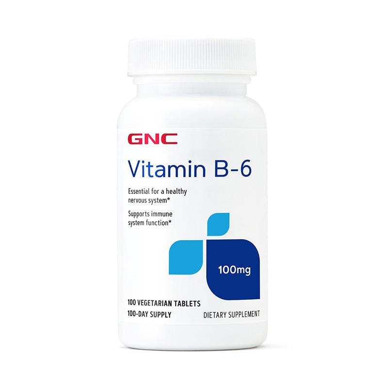 B-6 100 mg (100 tablete vegetale), GNC