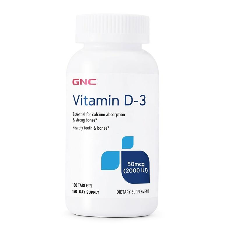 Vitamina D-3 2000 UI (180 tablete), GNC