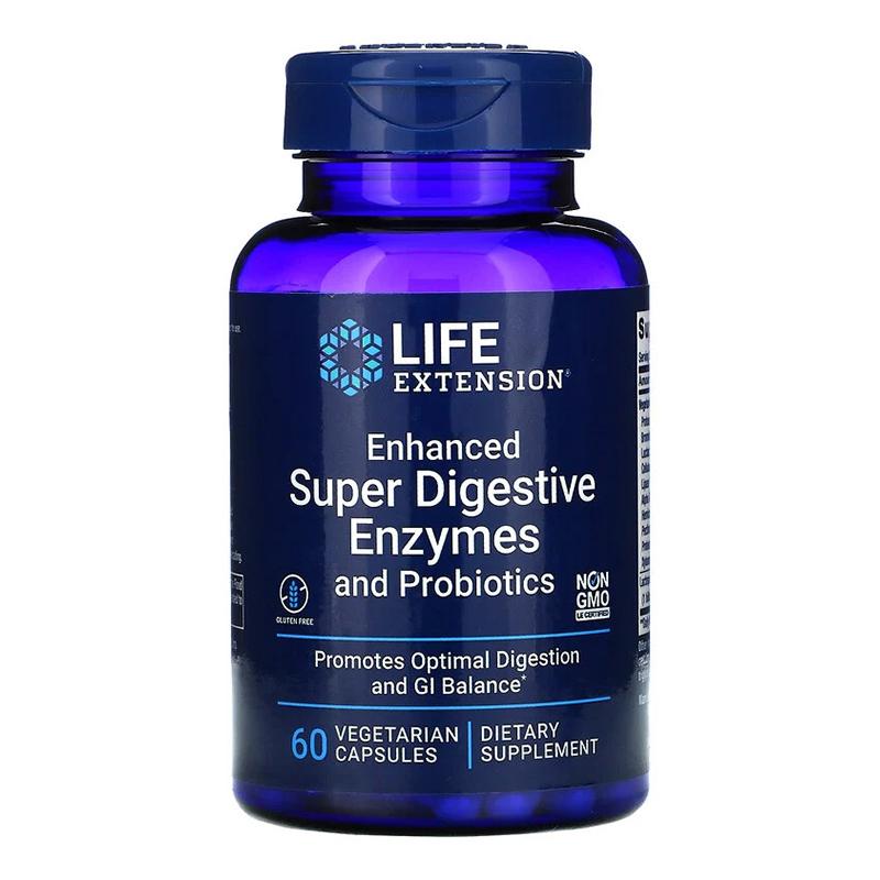 Enhanced Super Digestive Enzymes cu Probiotice (60 capsule), LifeExtension