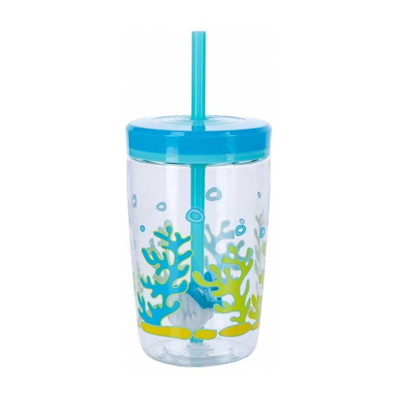 Sticla de apa pentru copii Contigo Bueno Floating Straw 470 ml shark