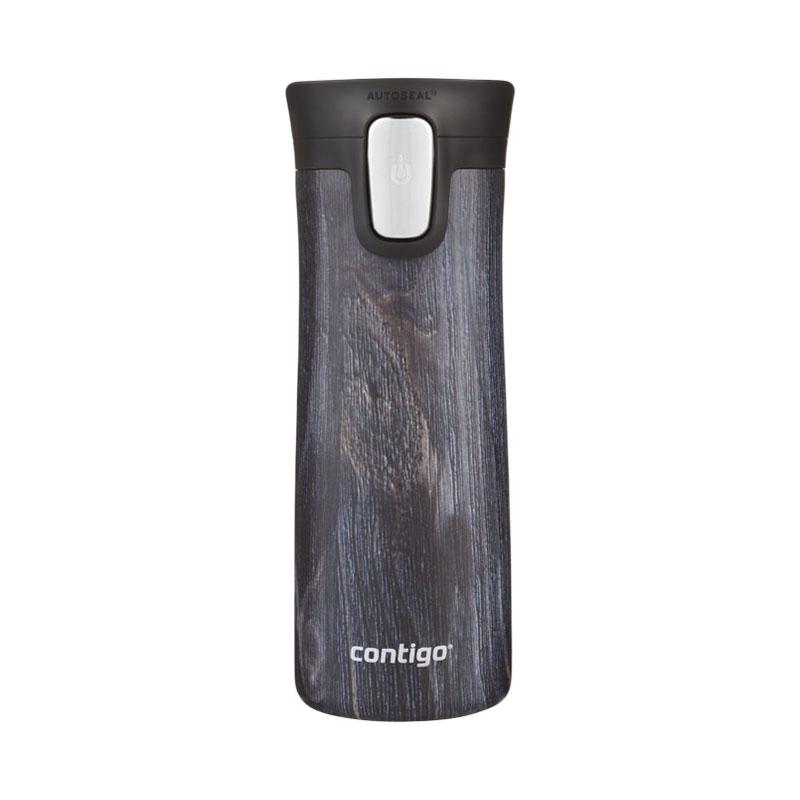 Termos din otel inoxidabil cu pereti dubli Contigo Couture Pinnacle 420 ml indigo wood