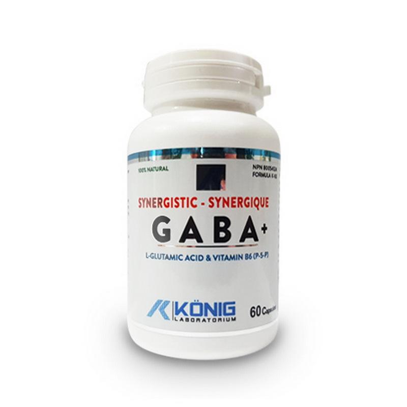 Gaba ne-sintetic cu P5P (60 capsule), Konig Laboratorium