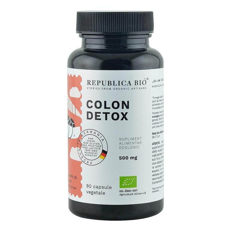 Colon Detox supliment alimentar ecologic (90 capsule), Republica Bio