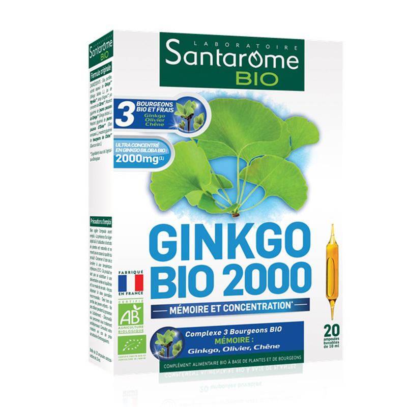 Ginkgo Bio 2000 Memorie si Concentrare (20 fiole), Santarome
