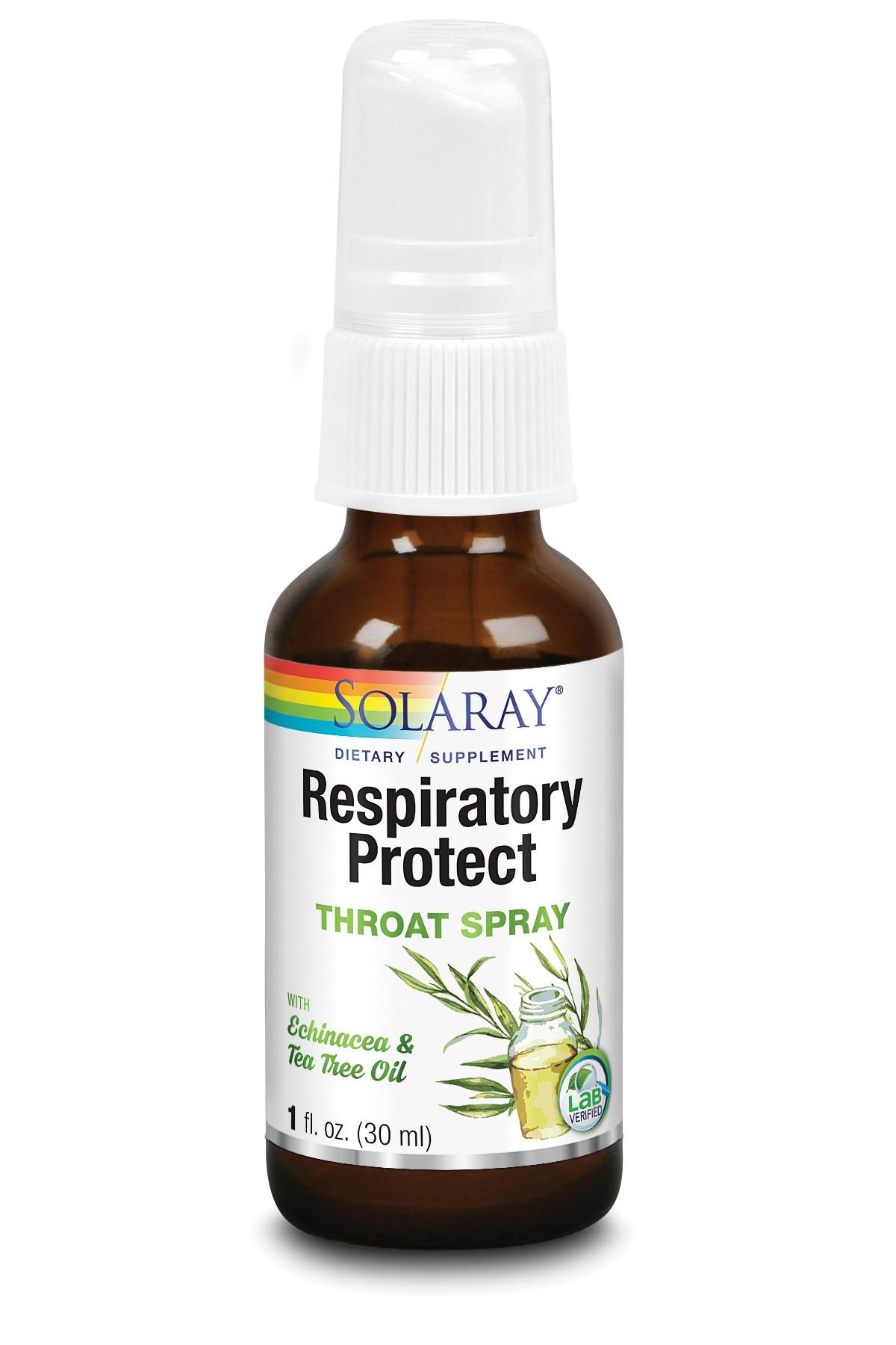 Respiratory Protect Throat Spray (30 ml), Solaray