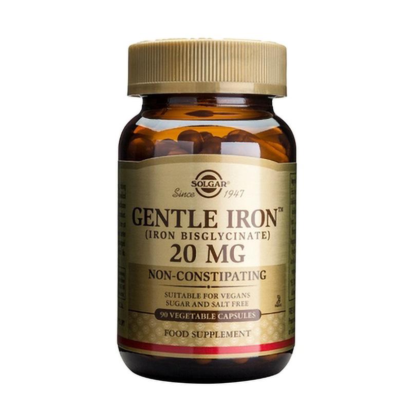 Gentle Iron 20mg (90 capsule), Solgar
