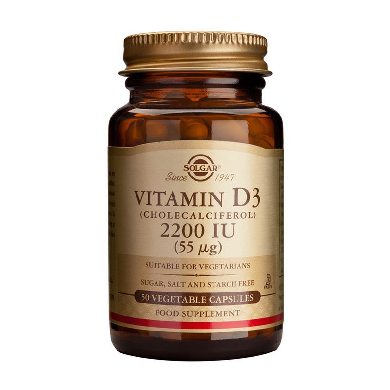Vitamin D3 2200IU (50 capsule), Solgar
